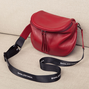 Image 4 - 本革のクロスボディバッグ女性のショルダーバッグの女性の高級ハンドバッグファッションサドルバッグの女性のトート財布嚢メイン