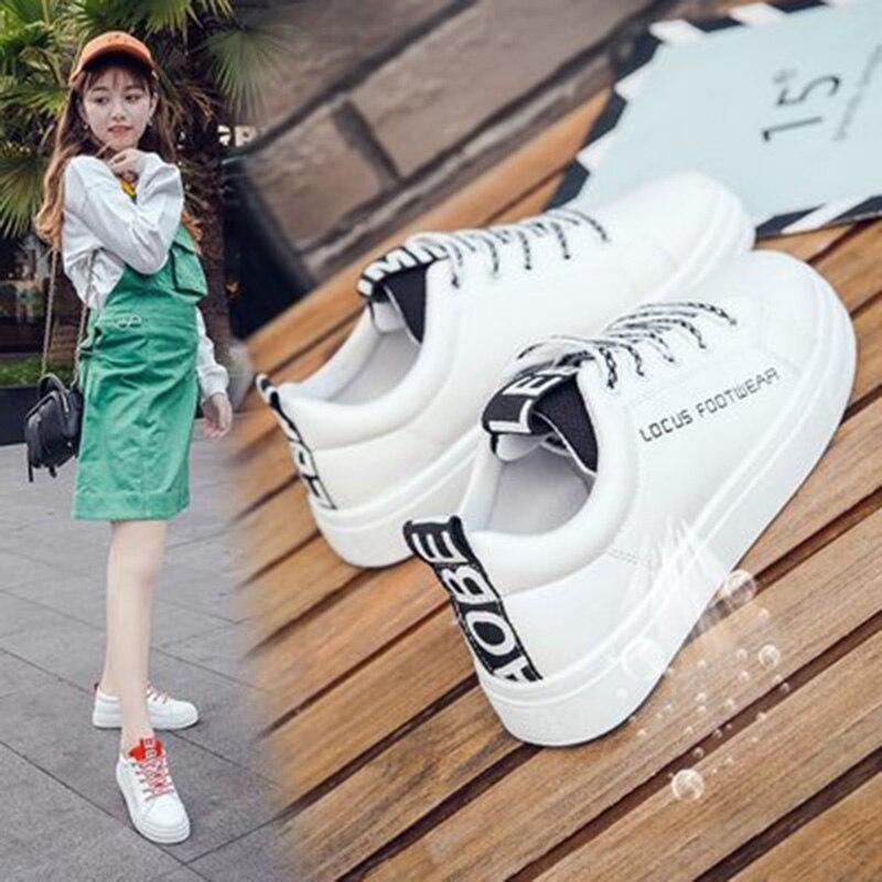 2018 mujeres vulcanize zapatos plataforma zapatos de lona - Zapatos de mujer - foto 3