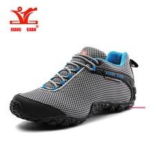 XIANGGUAN Man Hiking Shoes Men Mesh Breathable Trekking Boots Green Zapatillas Sports Climbing Shoe Outdoor Walking Sneakers