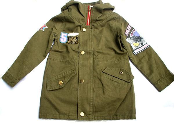 wholesale(5pcs/lot)--2016 autumn winter zipper letter trench jacket for child boy girl