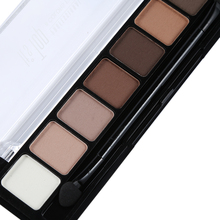 8 Earth Color Nude Makeup Eye Shadow Palette Smoky Glitter Matte Make Up Brush Tool Set Eyeshadow