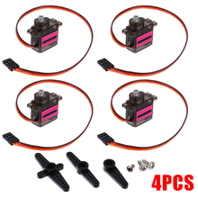 4Pcs MG90S Micro Metal Gear Servo For RC Airplane Helicopter Car Boat Kids Remote Control Toys Parts aluminum alloy landing gear remote control retractable for undercarriage for skywalker x8 epo airplane spare parts