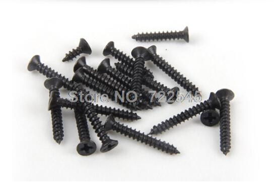 M1.4x2.5 Self Tapping Screws Computer Screw Small Philips Countersunk Head Flat Black Steel Head Diameter 2.5mm Pack 1000 10pcs m6 16mm m6 16mm 316 ss stainless steel mushroom head sttp screw self tapping screw truss phil screws
