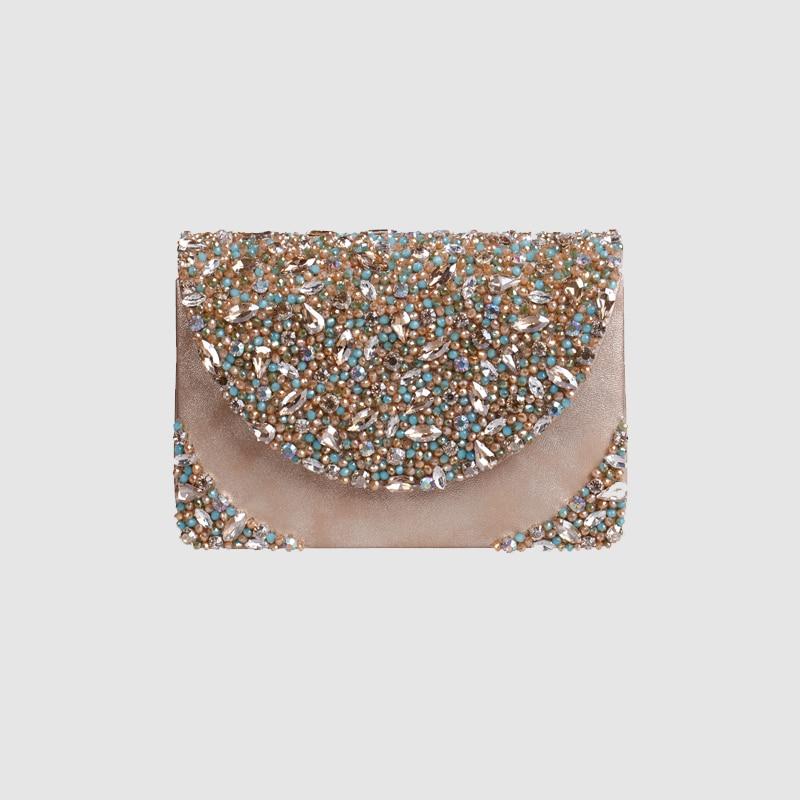 LOCAL FOCAL Fashionable handmade champagne with delicate handbag local focal fashionable handmade with delicate handbag