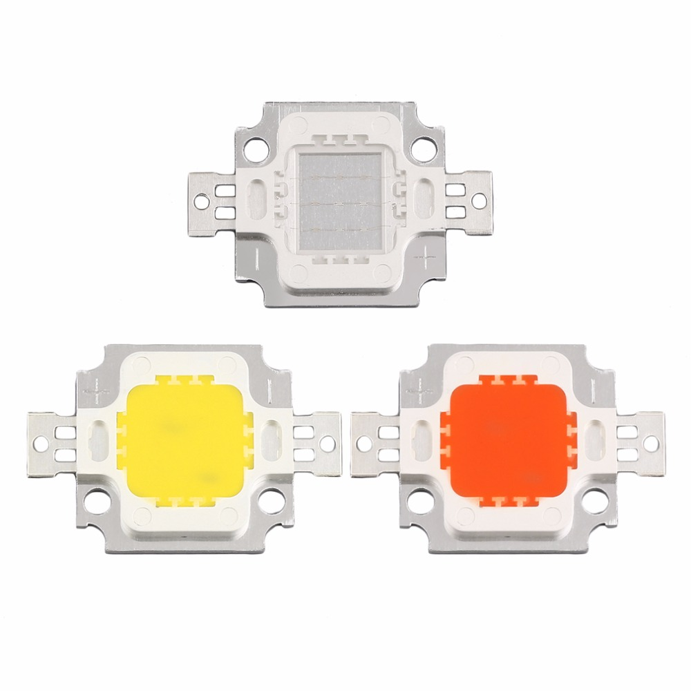 2pcs 2018 NEW Arrival COB led High Power 10W LED Chip red yellow blue LED Bulb Lamp Light Chip LED