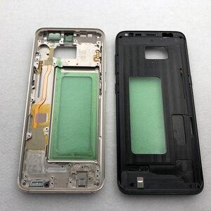 Image 4 - لسامسونج غالاكسي S8 زائد G955 G955F G950F كامل الإسكان حالة الزجاج الخلفي باب البطارية حالة S8 G950 الإطار الأوسط الزجاج الأمامي عدسة