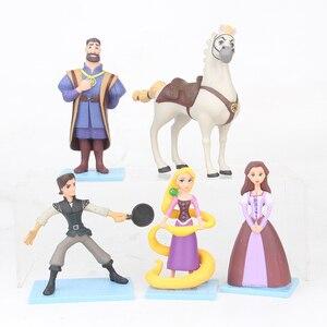 Boneco mãe gothel 5 pçs/set, emaranhado, rapunzel, flynn, brinquedo modelo em pvc 9-12cm