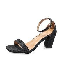 Fashion 2019 Shoes Women Open Toe Sandals Women Summer Shoes  Bling Sweet High Heels Dress Sandals Heeled Ankle Strap Sandals ankle strap cork heeled suede sandals