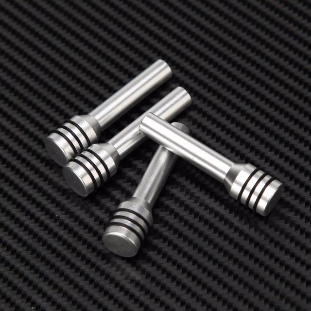 POSSBAY 4Pcs Universal Car Auto Truck Interior Door Lock Knob Pull Pins Aluminum Alloy Auto Car Security Door Lock Pins