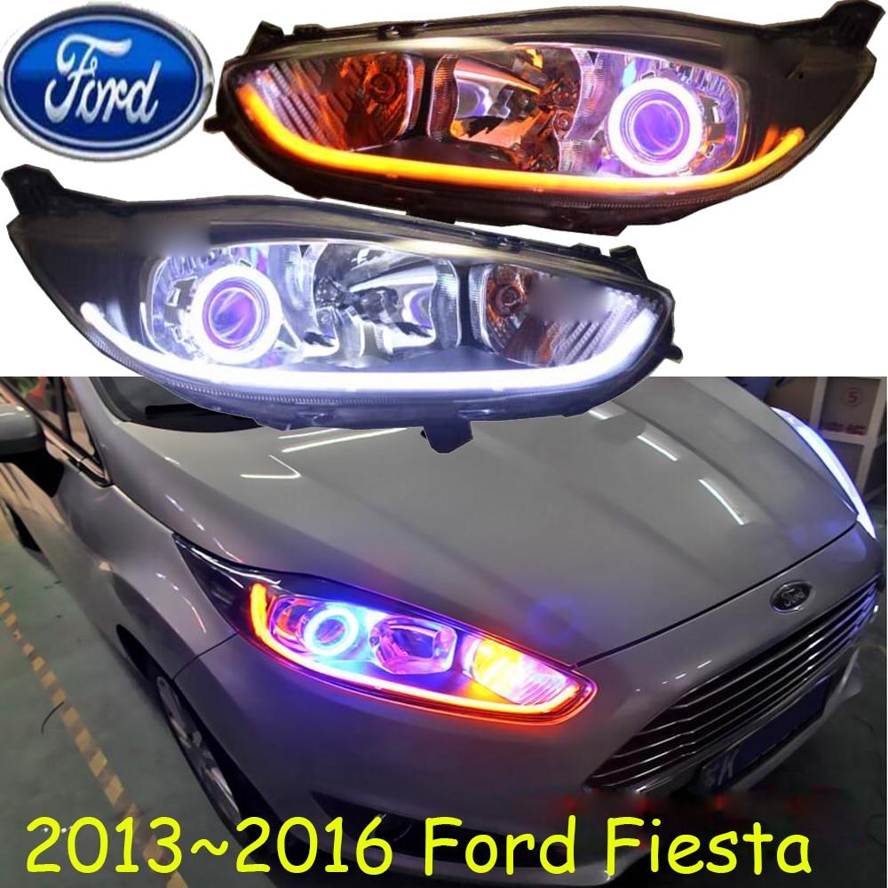 2013 2014 2015 2016y car bumer head light for Ford Fiesta headlight car accessories LED DRL