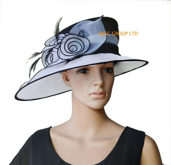 NEW-ARRIVAL-organza-hat-Kentuo-hat-bridal-hat-with-feathers-for-wedding-races-party-church