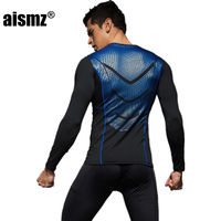 Aismz Quick Dry Compression Long Johns Fitness Winter Gymming Male Spring Autumn Sporting Runs Workout Thermal