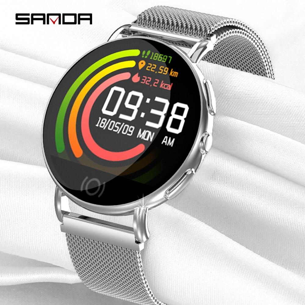 100% Wahr Sanda Neue Business Smart Watch Herz Rate Blutdruck überwachung Multi-sport Gesundheit Nachricht Anruf Erinnerung Digitale Uhr QualitäT Zuerst
