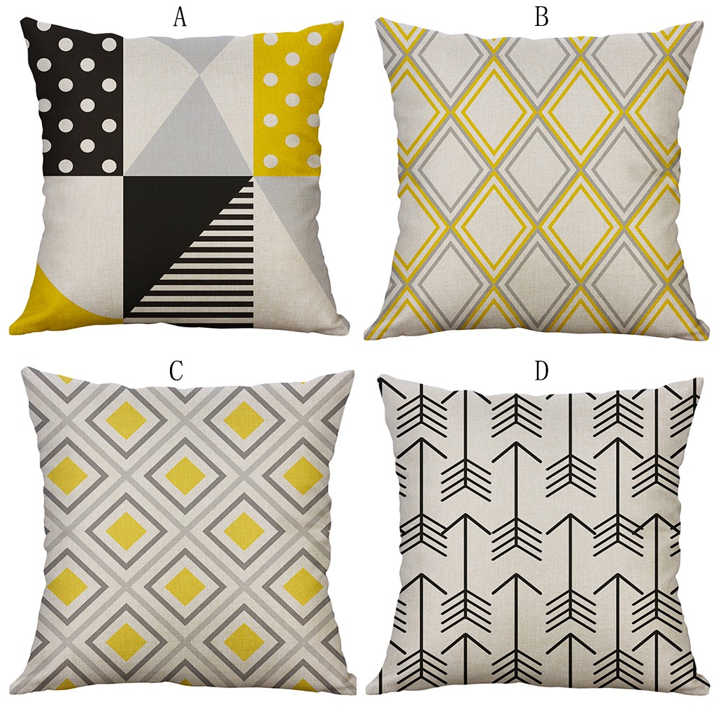 Image 5 - Simple Linen Creative Lovely Pillow Cover Cover Home Party Hotel Textile 45cm*45cm Pillow Cover Car Covers Hot Dropshipping-in Cushion Cover from Home & Garden