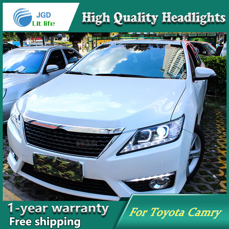 Car Styling Head Lamp case for Toyota Camry Headlight 2012-2014 Sentra LED Headlights DRL H7 D2H Hid Option Bi Xenon Beam us version  car styling 2012 2014 camry