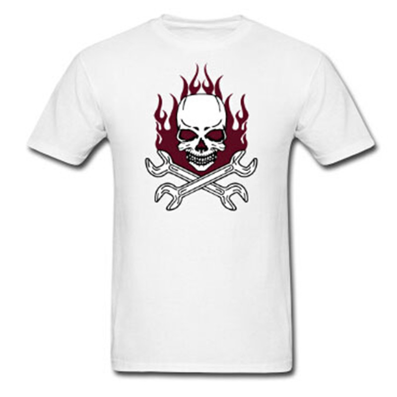 2017 hot sale style tuning skull logo men short sleeve t for Shirts with custom logo