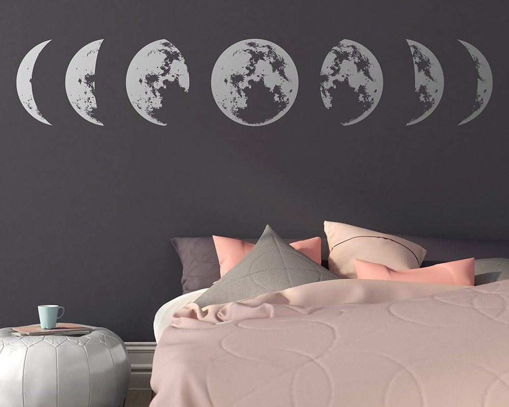 Personalized Lunar Eclipse Moon Vinyl Wall Stickers Wallpaper Wall Decor For Living Room Bedroom Decal Wall Decals Mural