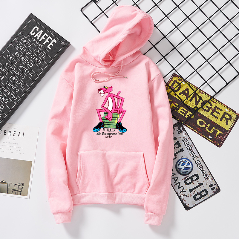 Sitting pink panther greys anatomy women hoodies with hat wanna one abrigo  mujer hip hop sudaderas mujer 2018 bluza vs pink tops-in Hoodies    Sweatshirts ... 7a790ecf1
