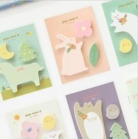1pc Cute cartoon animal pattern Memo Pads,funny decoration sticky note(ss-1178)