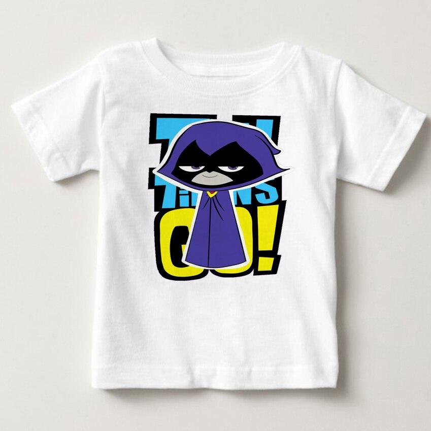 2018 мальчиков девочек Teen Titans Go мультфильм Дизайн футболка Дети Забавные топы с короткими рукавами милая детская футболка горячая Распродажа...