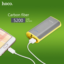 HOCO B21 Power Bank 5200mAh Mini USB Tiny Concave Pattern 18650 Portable Mobile Phone External Battery Charger Powerbank