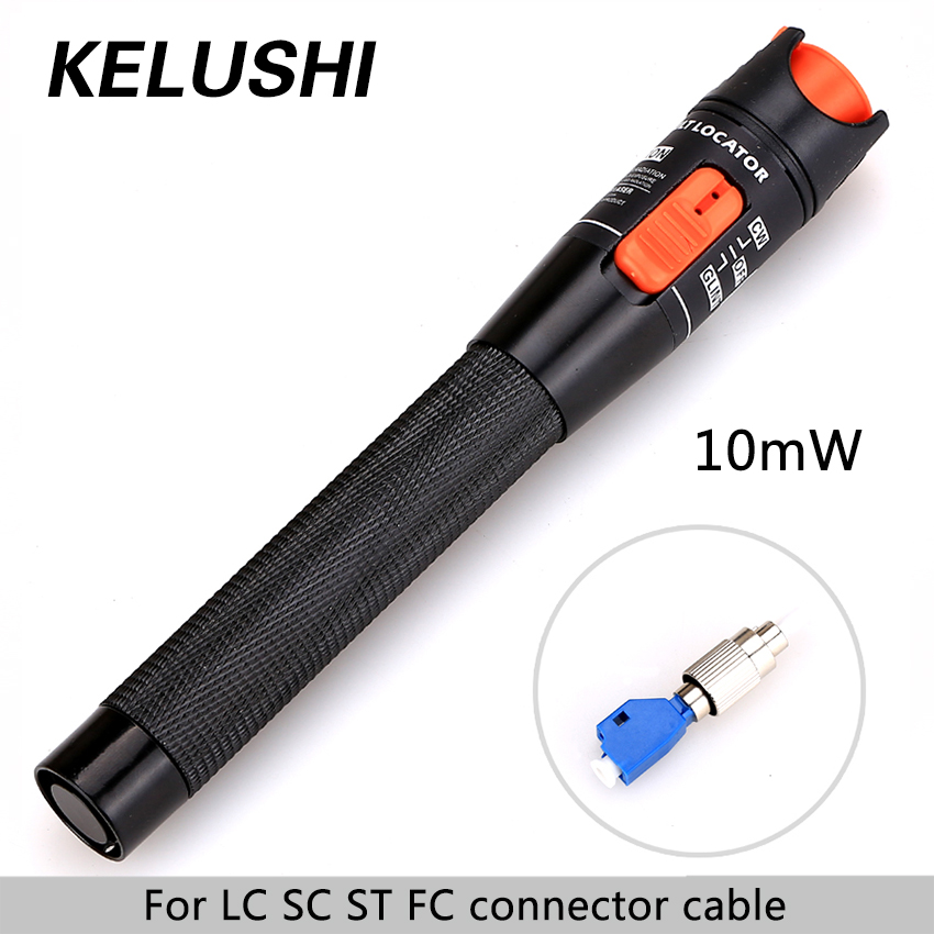 bilder für KELUSHI CATV 10 mw Aluminium Glasfaser-visuelle Fehlersuch Rot Laser Kabel Tester Testing Tool mit 2,5mm LC/SC/ST/FC Adapter