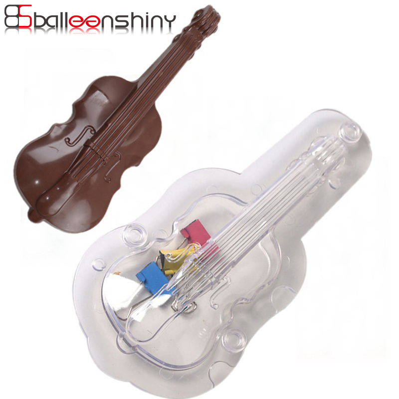Home & Garden Cake Molds Balleenshiny Diy Violin Chocolate Cookie Baking Mould Dessert Cake Jelly Candy Sugarcraft Cube Baker Mold Fondant Bakeware Tools