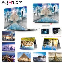 EQHTX Landscape Print Color Laptop Case For MacBook Air Retina Pro 11 12 13 15 For Mac Book New Pro 13 15 + With Touch Bar+Film(China)