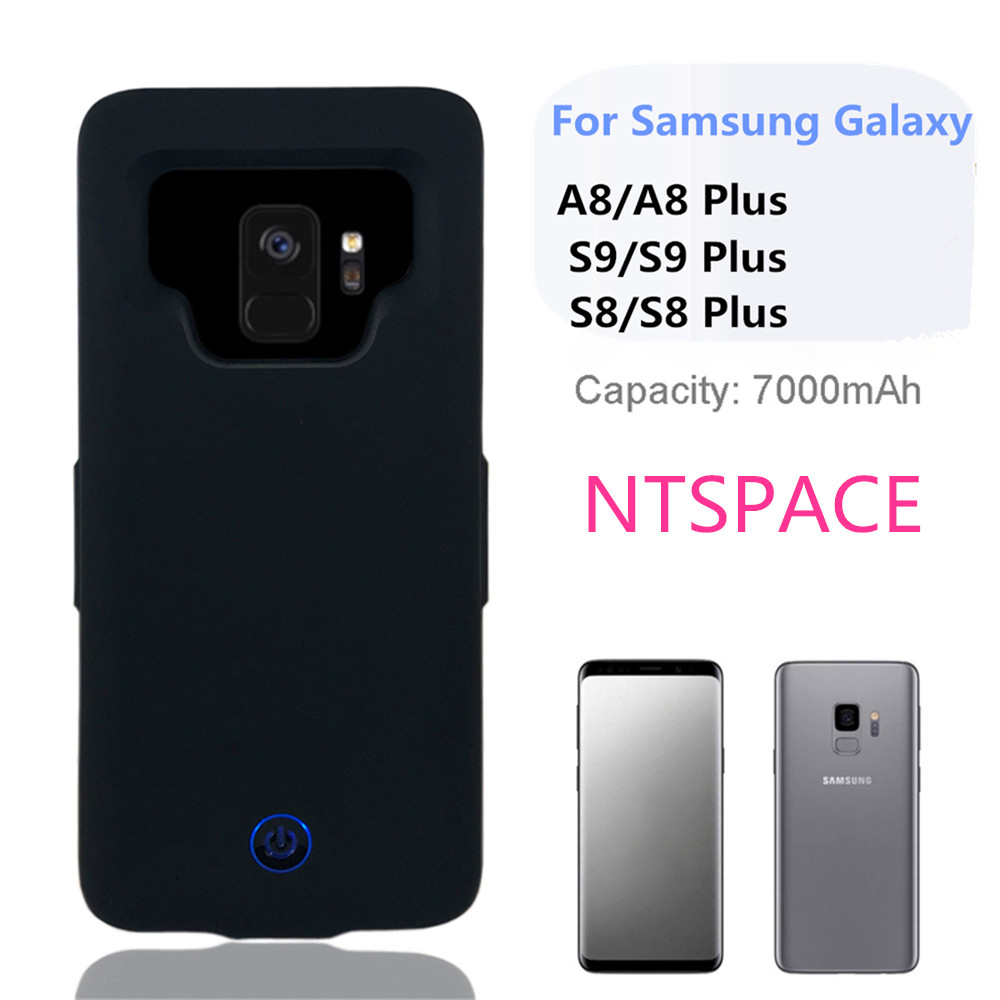 7000mAh Ultra Thin Mobile Power Back Charging  Battery  Case  For Samsung S9 S8 Plus For Samsung Galaxy S9 S8 A8 Battery Case