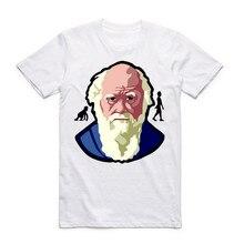 Camisa Dos Homens T de Charles Darwin Evolução Da Ciência O-pescoço T-shirt fc33c72870a