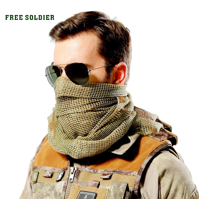 FREE SOLDIER outdoor hiking camping riding windproof multi-purpose headkerchief tactical scarves bike mask big head scarf
