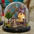 B019 Provence фермы деревянная кукла дома сборка кукольный миниатюрный diy стеклянный шар игрушки комплект