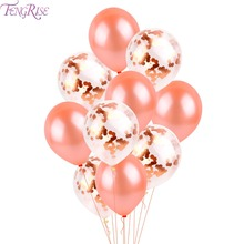 FENGRISE 10PCS Rose Gold Balloon Blandad Champagne Guld Wedding Balloons Wedding Party Decoration Födelsedag Ballon Party Decor