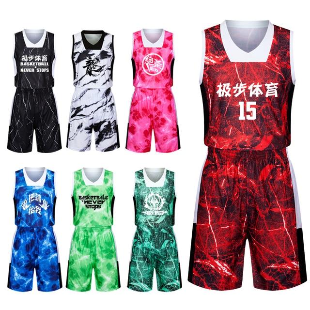 3c09663ceb6c0 2017 homens camisa de basquete conjunto camisa de basquete em branco  esportes uniformes de camuflagem personalizado