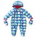 Bebé niños traje para la Nieve mamelucos de Algodón Gruesa ropa de Invierno chaqueta de los niños Ropa de Abrigo Mono del bebé Niños Prendas de Abrigo