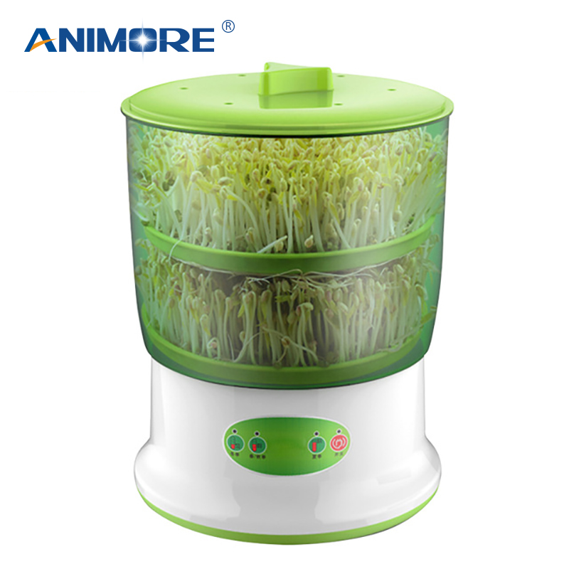 ANIMORE Bean Sprouts Maker Upgrade Large Capacity Thermostat 220V Bean Sprout Machine Household Automatic Sprout Machine