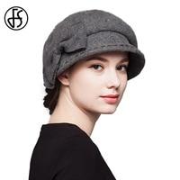 2017 Elegant Winter Autumn Vintage Retro Wool Felt Hat Women Wide Brim Church Hat Cloche Bucket