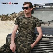 FreeArmy Brand T Shirts Men Plus Size Military Tactical Camo