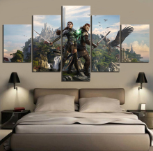 5 Piece RPG Game The Elder Scrolls Poster Canvas Printed Wall Pictures Home Decor For Living Room Wholesale