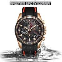 Relógio de pulso à prova dwaterproof água relógio de pulso relógio de pulso de quartzo masculino de quartzo