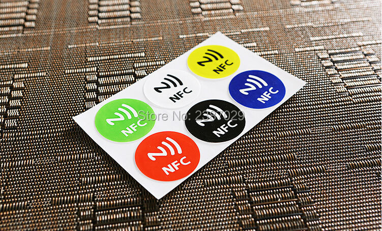 200pcs/lot dia 30mm size RFID label NTAG213 RFID adhesive label tag sticker for mobile phone