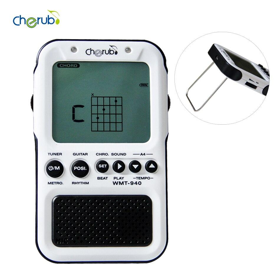 Chérubin WMT-940 métronome accordeur pour guitare chromatique basse violon ukulélé avec méthode de réglage automatique métronome électronique son