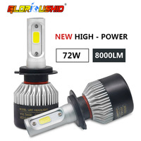 2Pcs Auto H4 Led H7 H1 H3 H11 H8 H9 9005 HB3 9006 HB4 Car Headlight