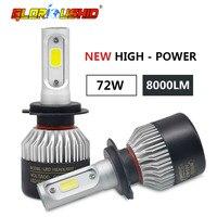 2Pcs Auto H4 Led H7 H1 H3 H11 H8 H9 9005 HB3 9006 HB4 Car Headlight