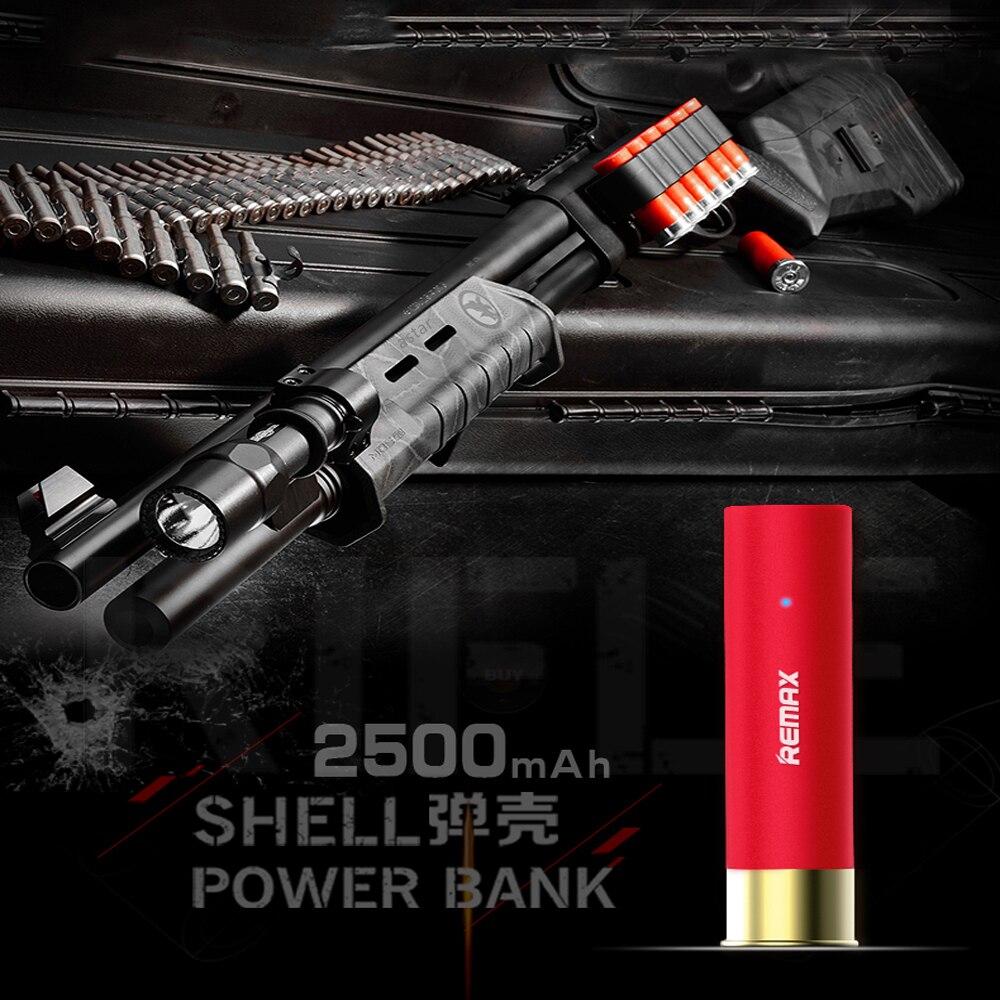 Remax 2500 mah puissance banque Bullet shell conception Powerbank bateria externe retour chargeur pour iphone5 6 7 plus tablet pc