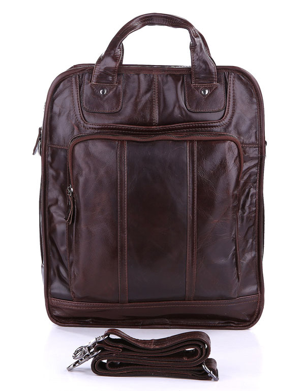 New Arrival Multi-function Vintage Style Genuine Leather Coffee Men's Backpacks Bag Travel Bags # 7168C new arrival vintage pattern multi purpose beanie