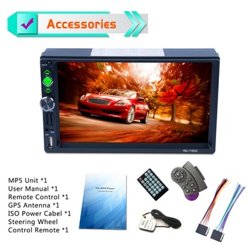 7 inch 178*100mm Car GPS Navigation HD 2 Din Car Stereo Bluetooth Multimedia player Mirror Link FM Audio Video TF Car MP5 Player
