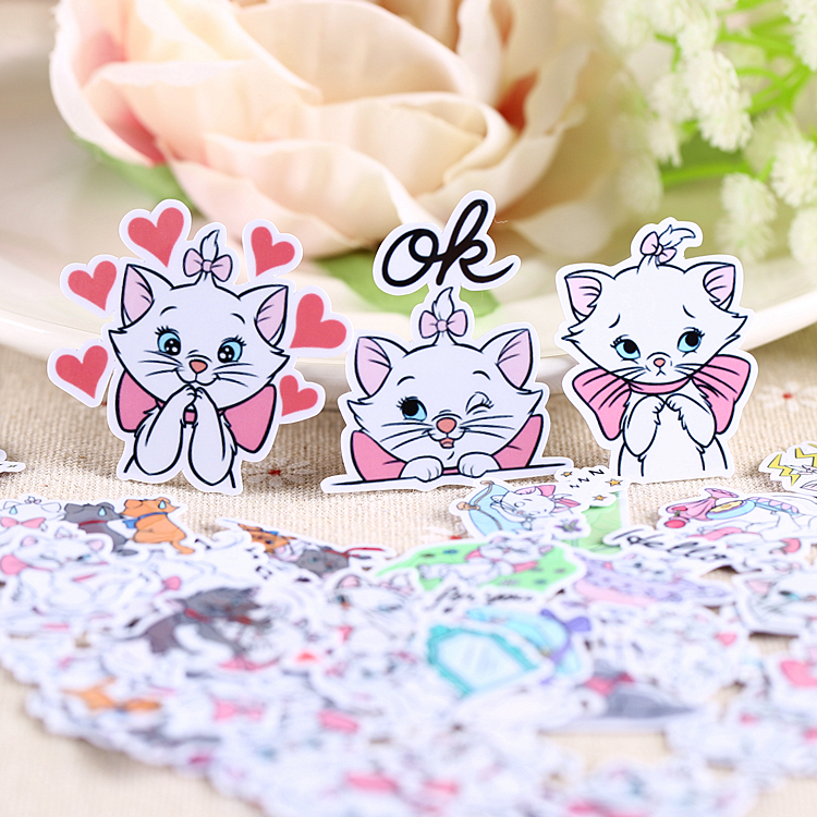 40pcs Creative Kawaii Self-made Cat Stickers/ Beautiful Stickers /decorative Sticker /DIY Craft Photo Album
