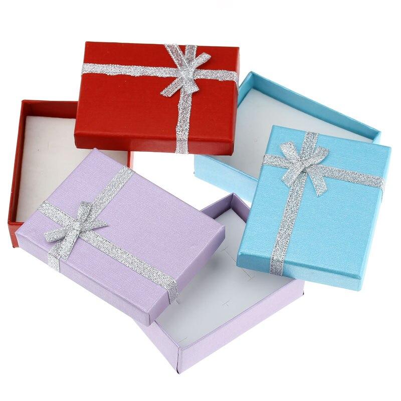 LASPERAL 10 шт. смешанные Цвет Jewellery подарок Коробки 9 см x 7 см Цепочки и ожерелья кольцо браслет ящик для хранения бункеров Для женщин для хранени...