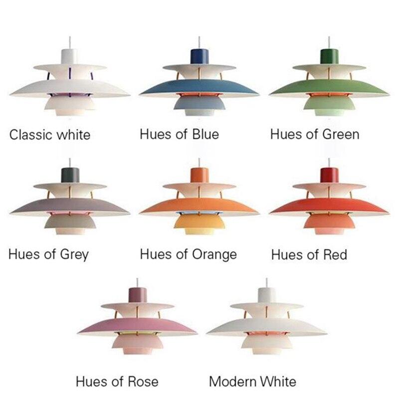 Скандинавский E27 светодиодный подвесной светильник, цветной зонт, светодиодный подвесной светильник для столовой, светодиодный подвесной